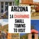 montage of images of 4 arizona small towns