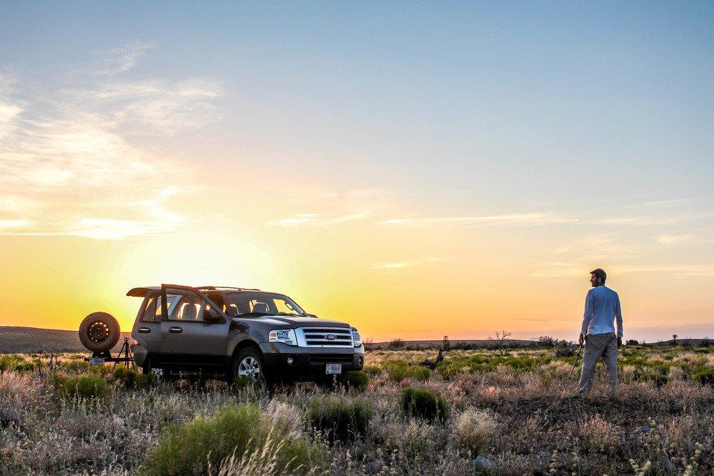SUV in desert at Parashant National Monument