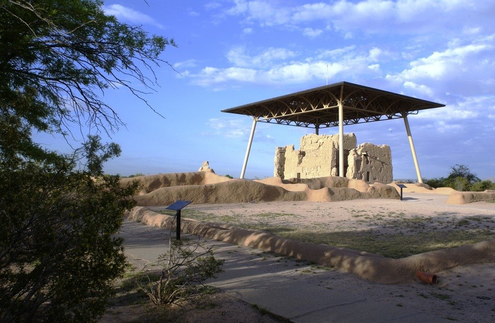 Casa Grande Great House ruins with canopy