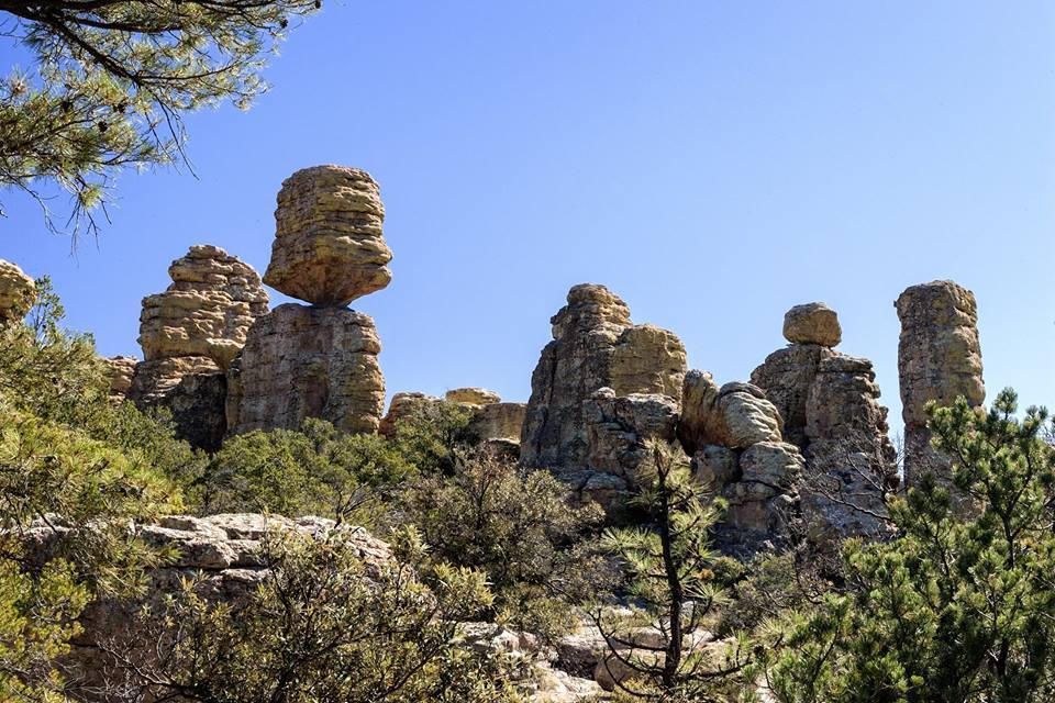 Rhyolyte rock formations at Chiricahua National Monument