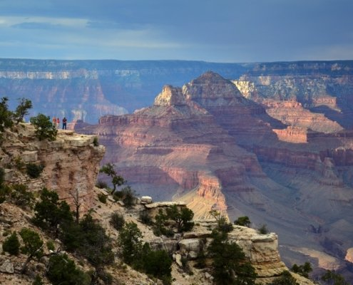 Sweeping view of the Grand Canyon; travel in Arizona