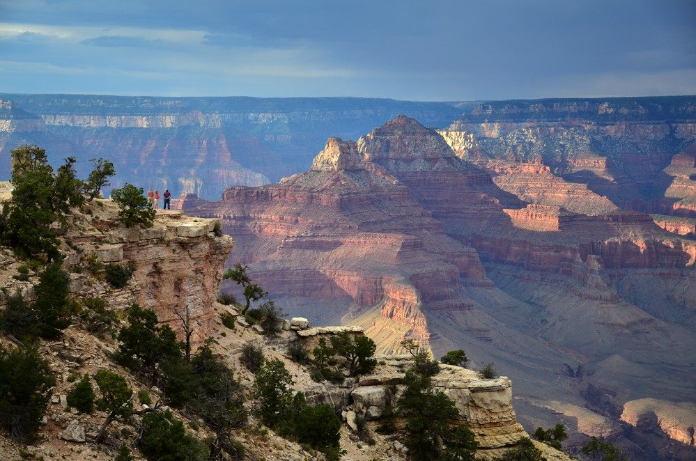 Long distance view of the Grand Canyon
