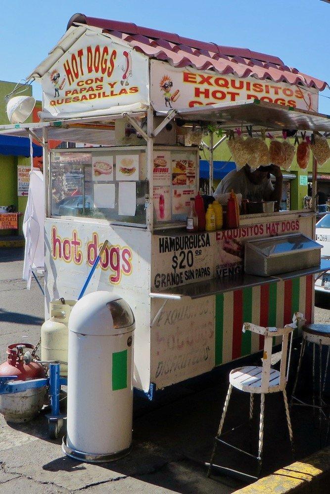 Mexican hot dog cart