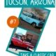 """image of 2 1950s cars with """"Truly Nolen"""" painted on the side-unique things to do in Tucson, AZ"""