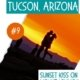 silhouette of two people kissing at sunset-things to do in Tucson AZ