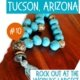 image of turquoise beads from the Tucson gem show-things to do in Tucson AZ