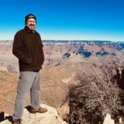 standing at an overlook of the Grand Canyon November