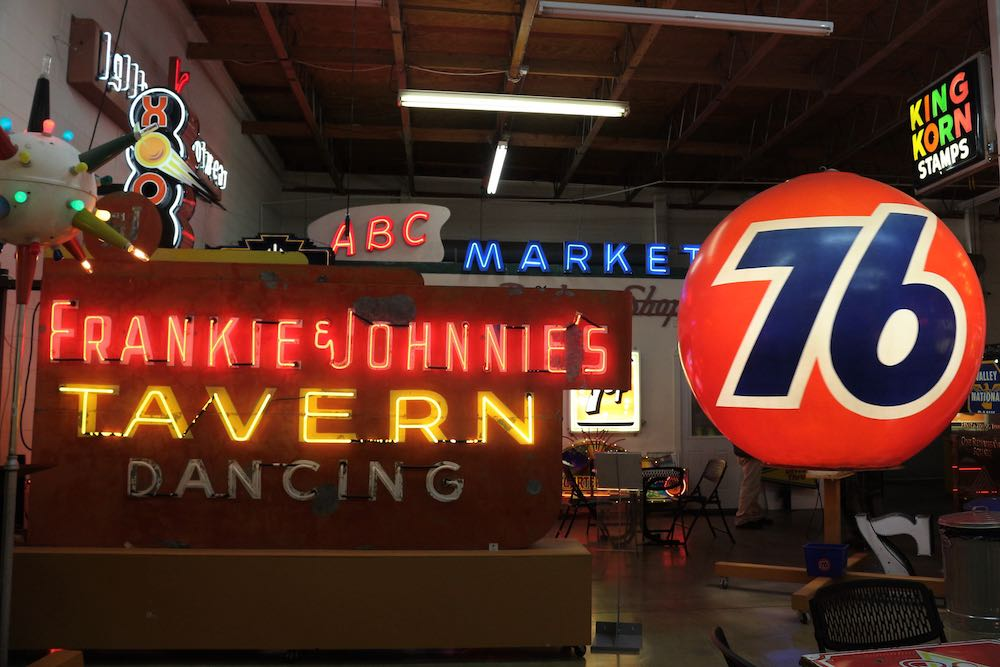 A collection of neon signs at one of our favorite museums in Tucson: the Ignite Sign Museum
