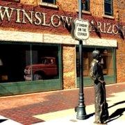 Standing on a corner Park Winslow Arizona statue