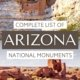 Montezuma Castle cliff dwelling above Wupatki pueblo-two Arizona national Monuments