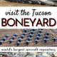 Tucson Boneyard-Arizona USA-3 photos of military aircraft-tail fins, overhead shot, nose cones in need of repair