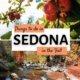 things to do in sedona in the fall-photo of apples on trees above photo of creek with fall foliage