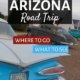 classic cars parked in front of the Wigwam motel along route 66 in Arizona
